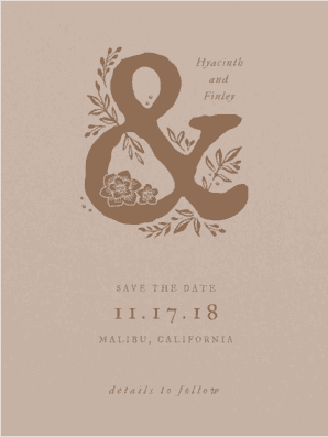 Gorgeous Wreath Save the Date Save the Date