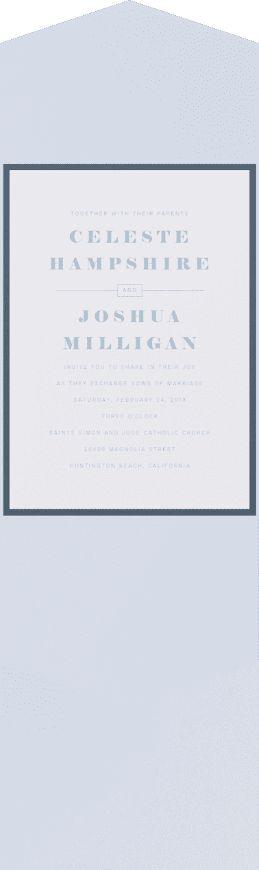 Miss Congeniality Wedding Invitation