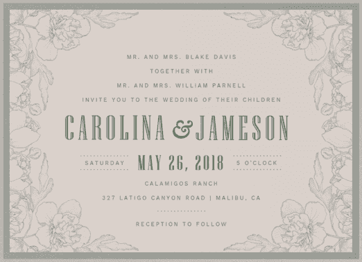Garden Delight Wedding Invitation
