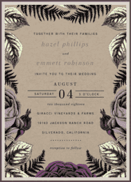 Fernville Wedding Invitation
