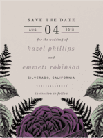 Fernville Save the Date Wedding Invitation