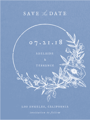 Enchanted Wreath Save the Date Save the Date