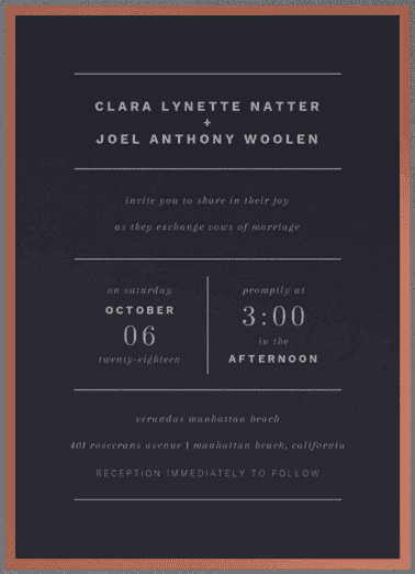 Young Love Wedding Invitation
