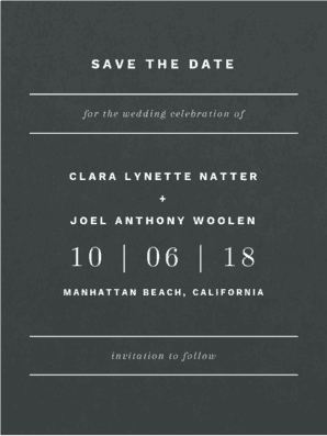 Young Love Save the Date Save the Date