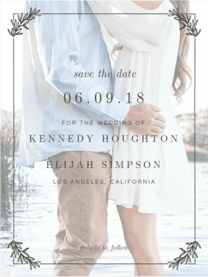 Monogram Wreath Save the Date Save the Date