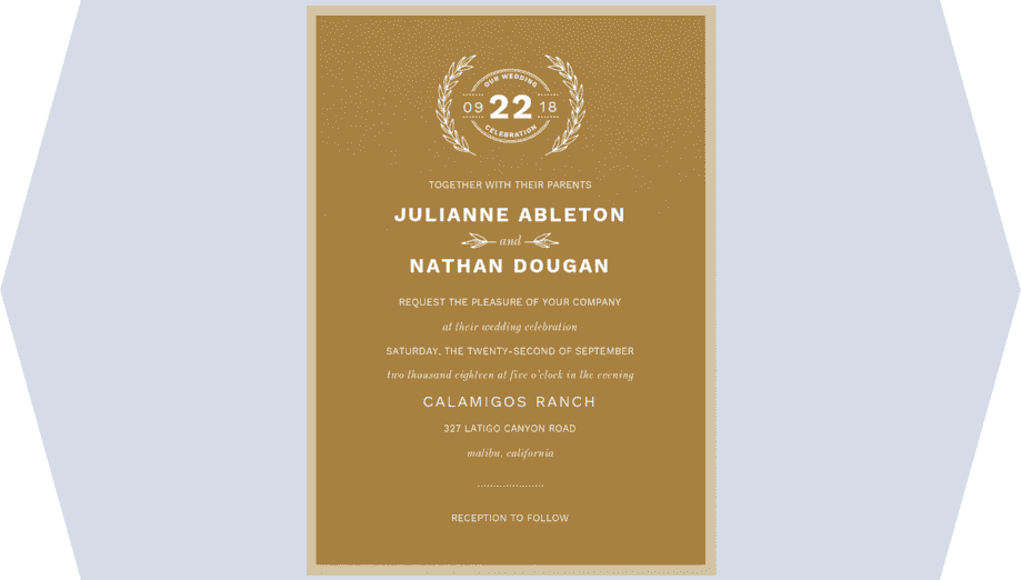 Vineyard Romance Wedding Invitation