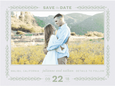 Vineyard Romance Save the Date Save the Date