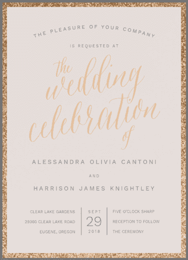 A Fine Affair Wedding Invitation
