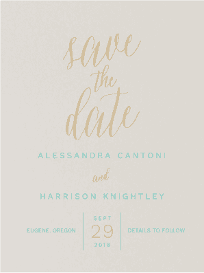A Fine Affair Save the Date Save the Date