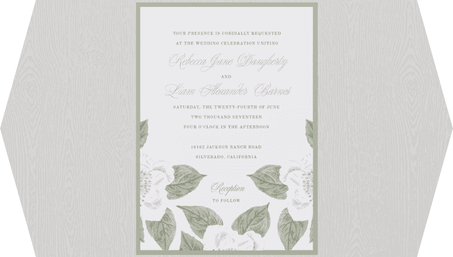 Vintage Rose Wedding Invitation