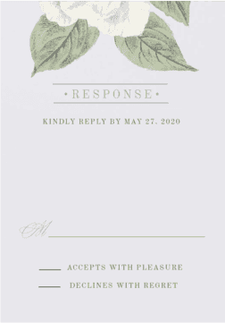Wedding Response Card
