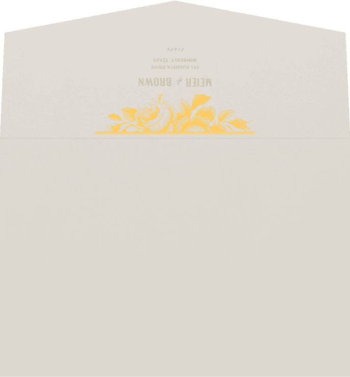 Wedding Outer Envelope